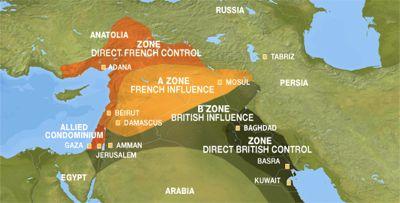 Nel 1916, il Regno Unito e la Francia si divisero il Medio Oriente (accordo Sykes-Picot). Quasi un secolo dopo, gli Stati Uniti e la Russia stanno discutendo un nuovo piano di partizione che gli permetterebbe di sgomberare a loro profitto l'influenza franco-britannica.