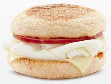 La nuova versione del Egg White Delight McMuffin, la forma irregolare, simile a quella di un uovo a casa