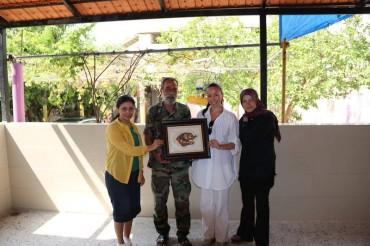 Assadakah con Munir Maqdah, generale al Fatah