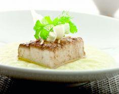 tofu glassato con pure