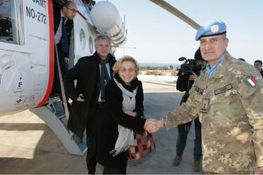 Ministro degli Affari Esteri con il Gen. Paolo Serra