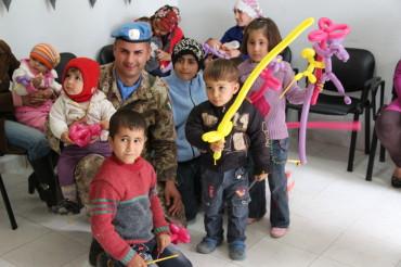 Clown terapia con bambini libanesi