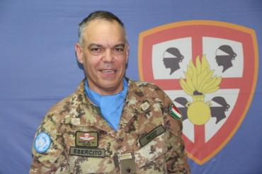 Generale Maurizio Riccò Comandante della Joint Task Force Lebanon