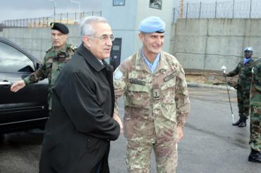 Presidente della Repubblica del Libano, Generale Michel Sleiman con Generale di Divisione Paolo Serra