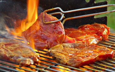 carne alla griglia, grill, fuoco 184095