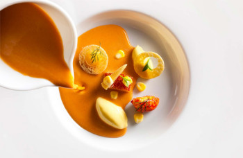Chilled Lobster Bisque with Corn