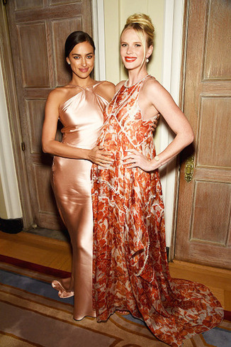 Models Irina Shayk and Anne Vyalitsyna